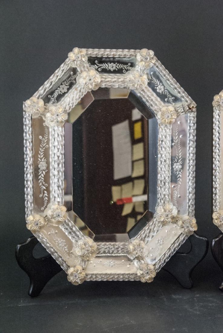 Pair of Vintage Italian Venetian Wall Mirrors - 4