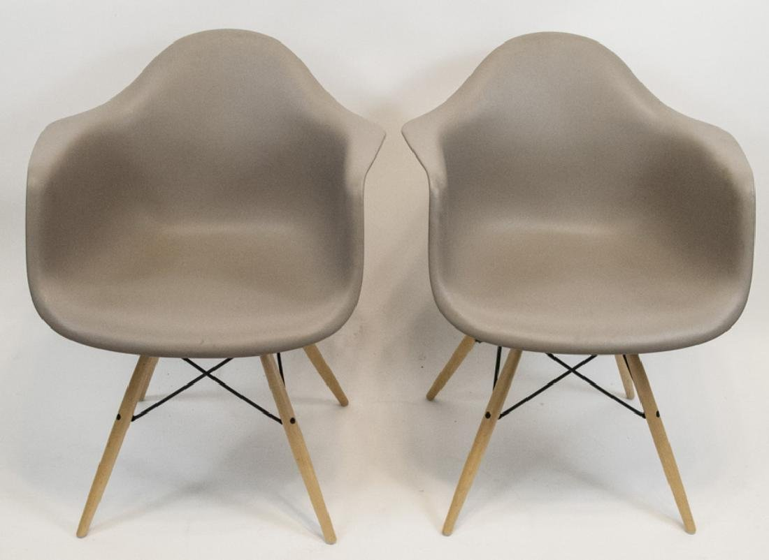 Two Contemporary Herman Miller Eames Bucket Chairs