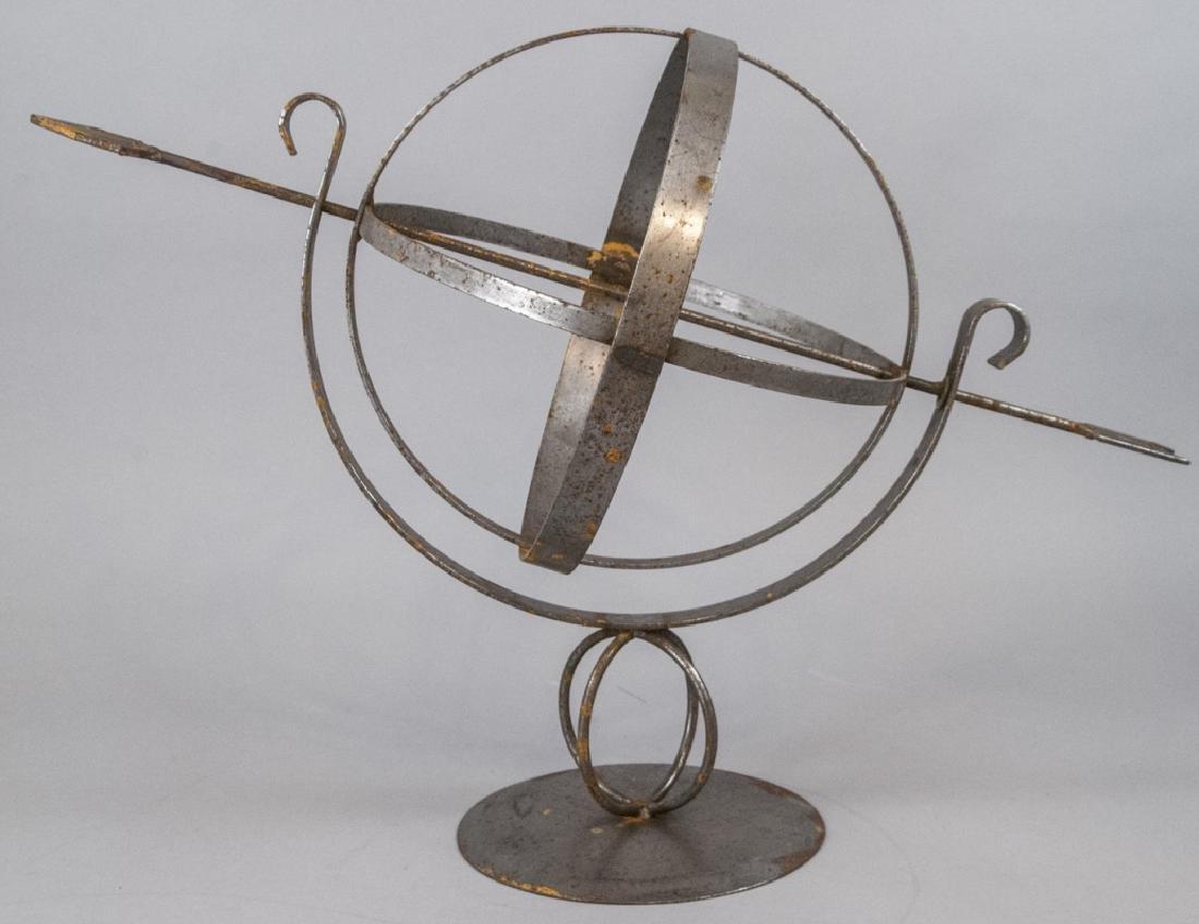 Vintage Cast Metal Armillary Sphere