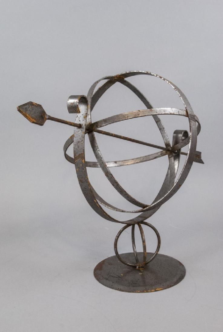 Vintage Cast Metal Armillary Sphere - 4