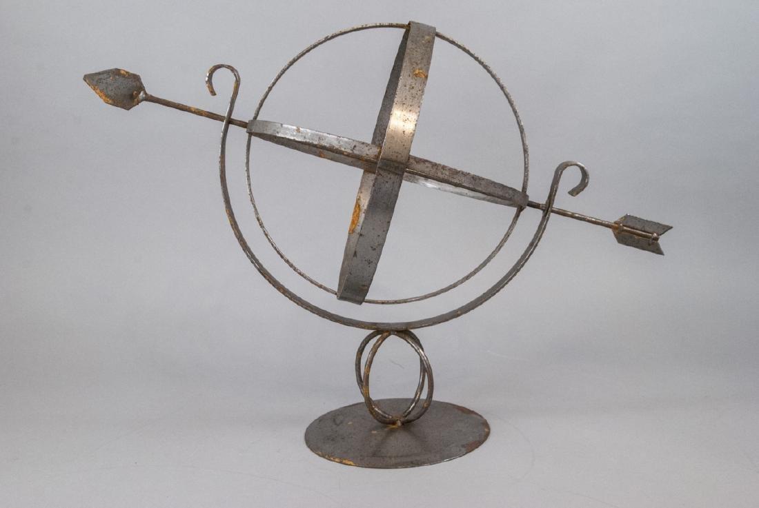 Vintage Cast Metal Armillary Sphere - 5