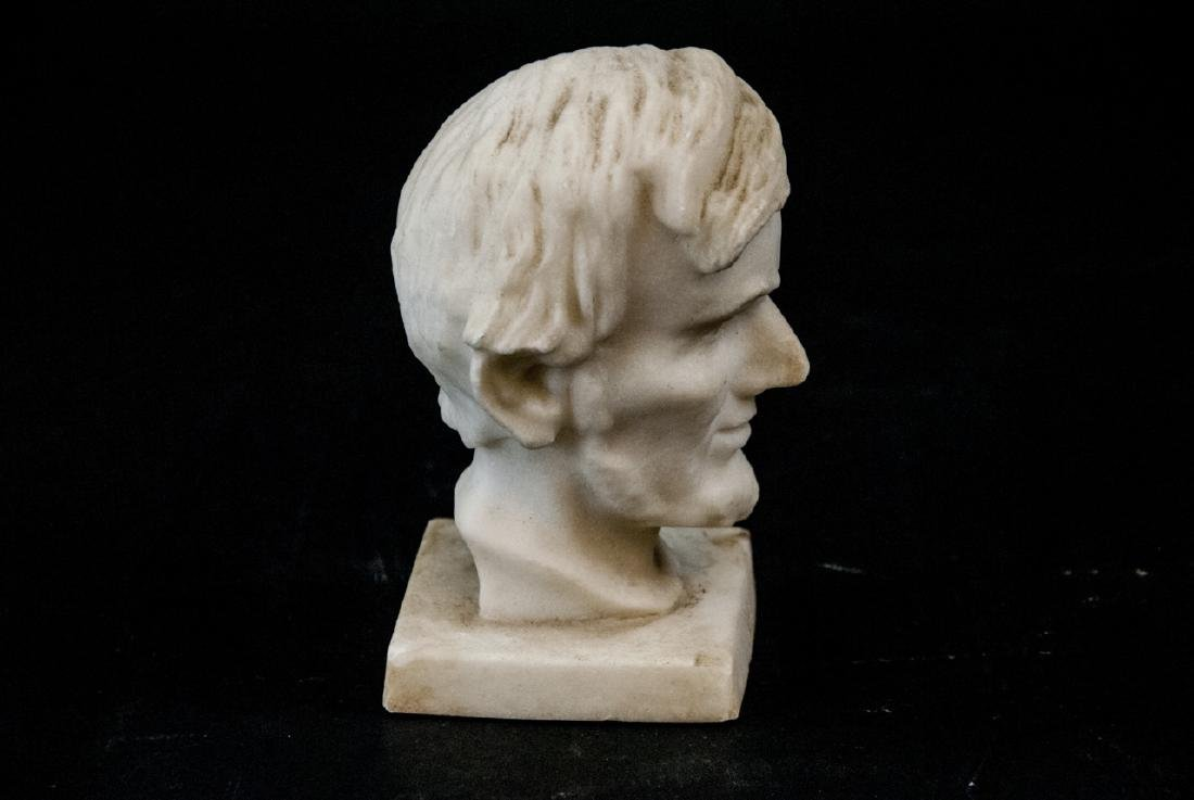 Antique Hand Carved Marble Bust of Abe Lincoln - 3