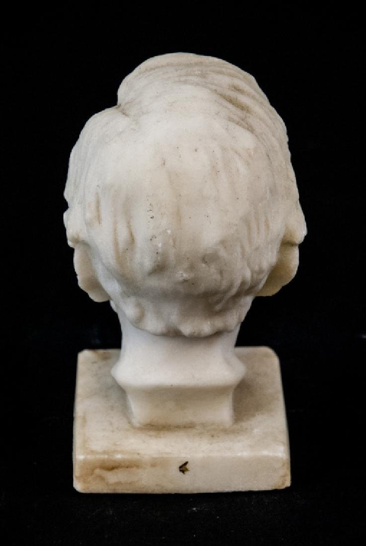 Antique Hand Carved Marble Bust of Abe Lincoln - 4