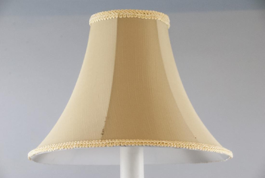 Antique 19th C Gilt Ormolu Altar Candlestick Lamp - 3