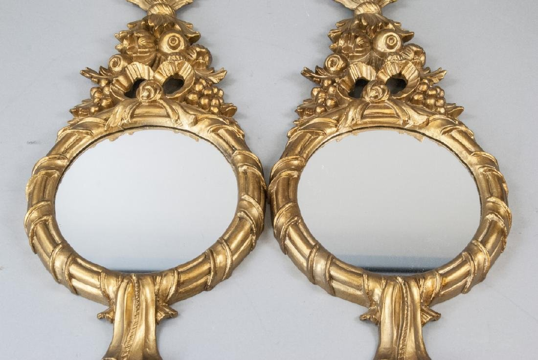 Pair of Gilt French Rococo Style Wall Mirrors - 4