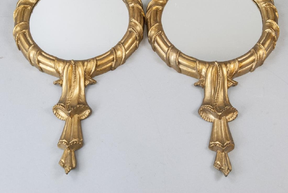Pair of Gilt French Rococo Style Wall Mirrors - 5