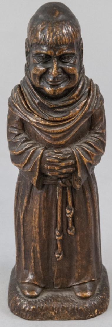 Antique Figural Monk Bar Ware Corkscrew Statue