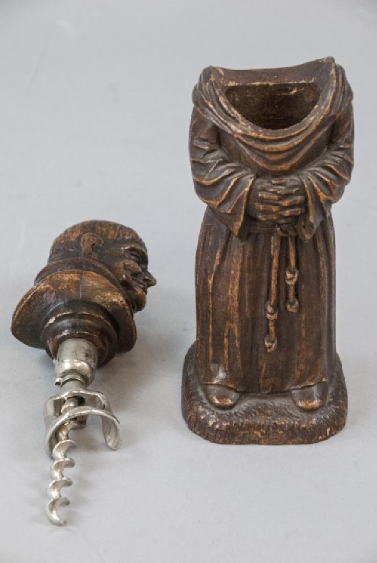 Antique Figural Monk Bar Ware Corkscrew Statue - 2