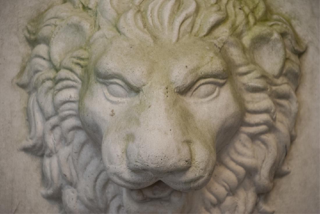Neo Classical Style Cast Stone Lion Head Plaque - 3