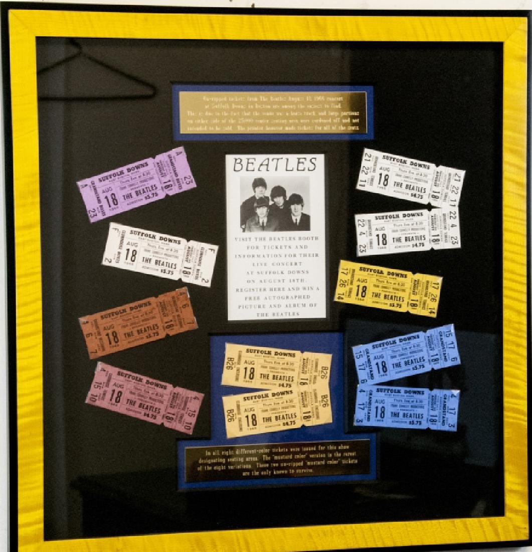 The Beatles Suffolk Down Boston Concert Ticket Set