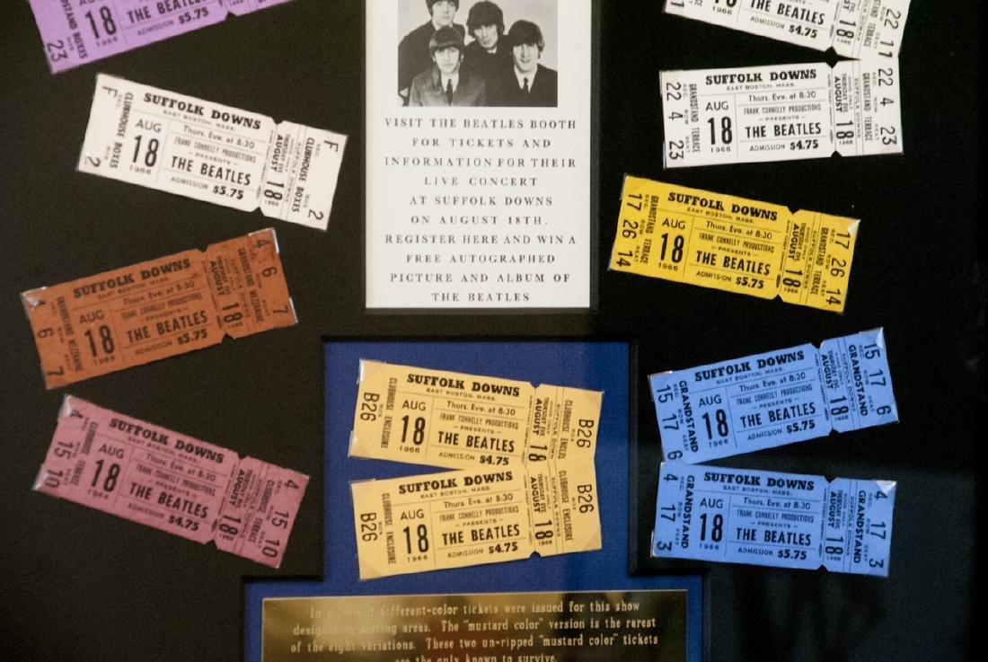 The Beatles Suffolk Down Boston Concert Ticket Set - 2