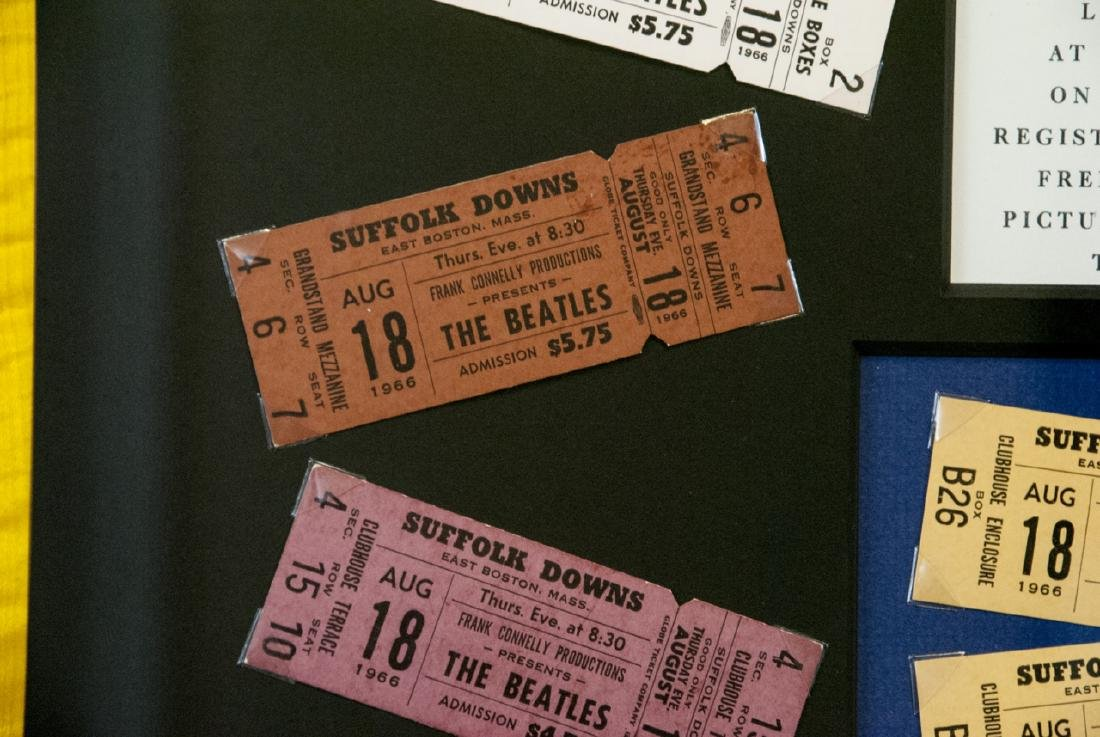 The Beatles Suffolk Down Boston Concert Ticket Set - 3