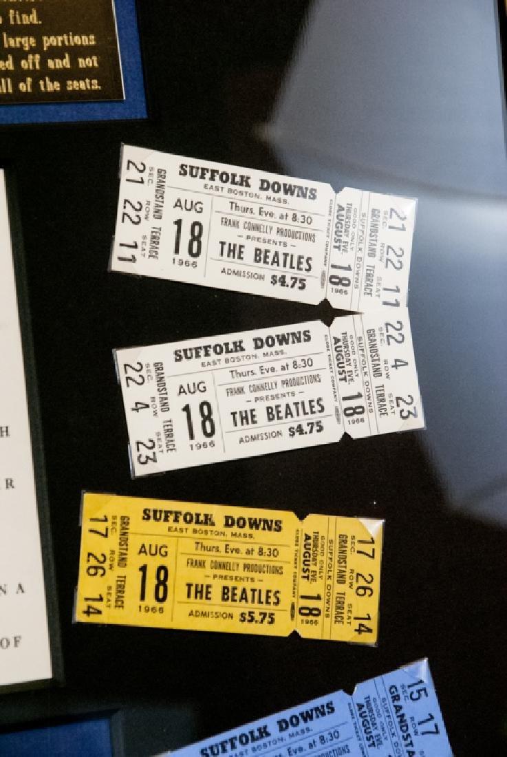 The Beatles Suffolk Down Boston Concert Ticket Set - 4