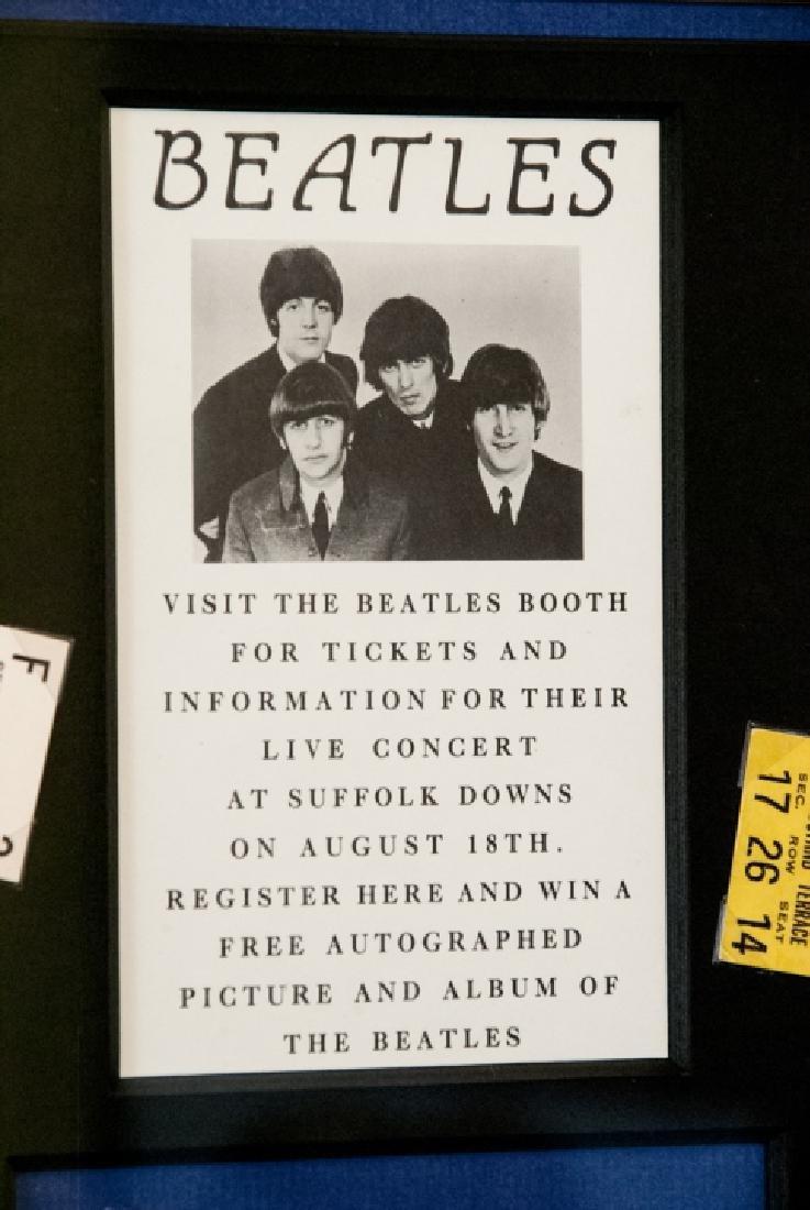 The Beatles Suffolk Down Boston Concert Ticket Set - 5