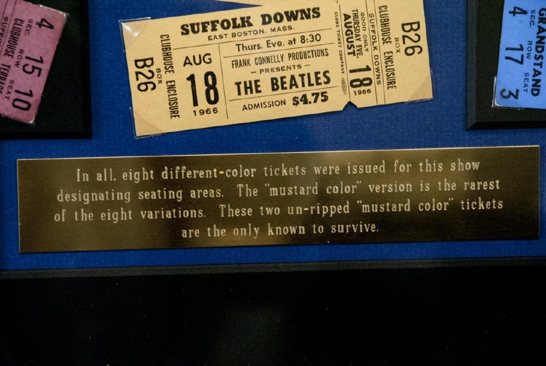 The Beatles Suffolk Down Boston Concert Ticket Set - 6