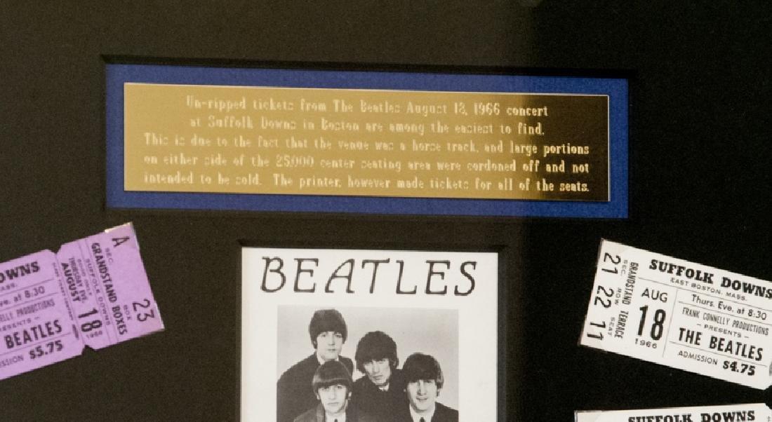 The Beatles Suffolk Down Boston Concert Ticket Set - 7