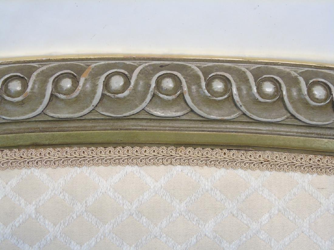 Vintage French Style Carved Upholstered Headboard - 3
