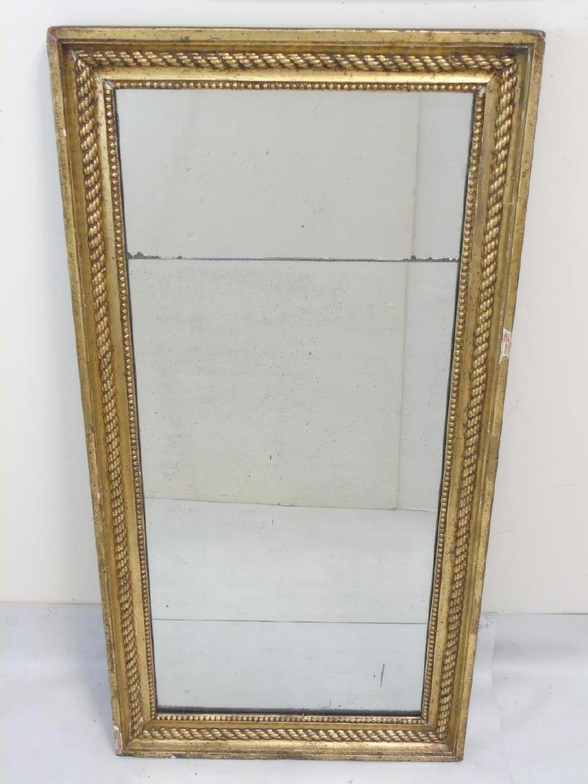 Vintage Gilt Framed Mirror with Rope & Bead Detail