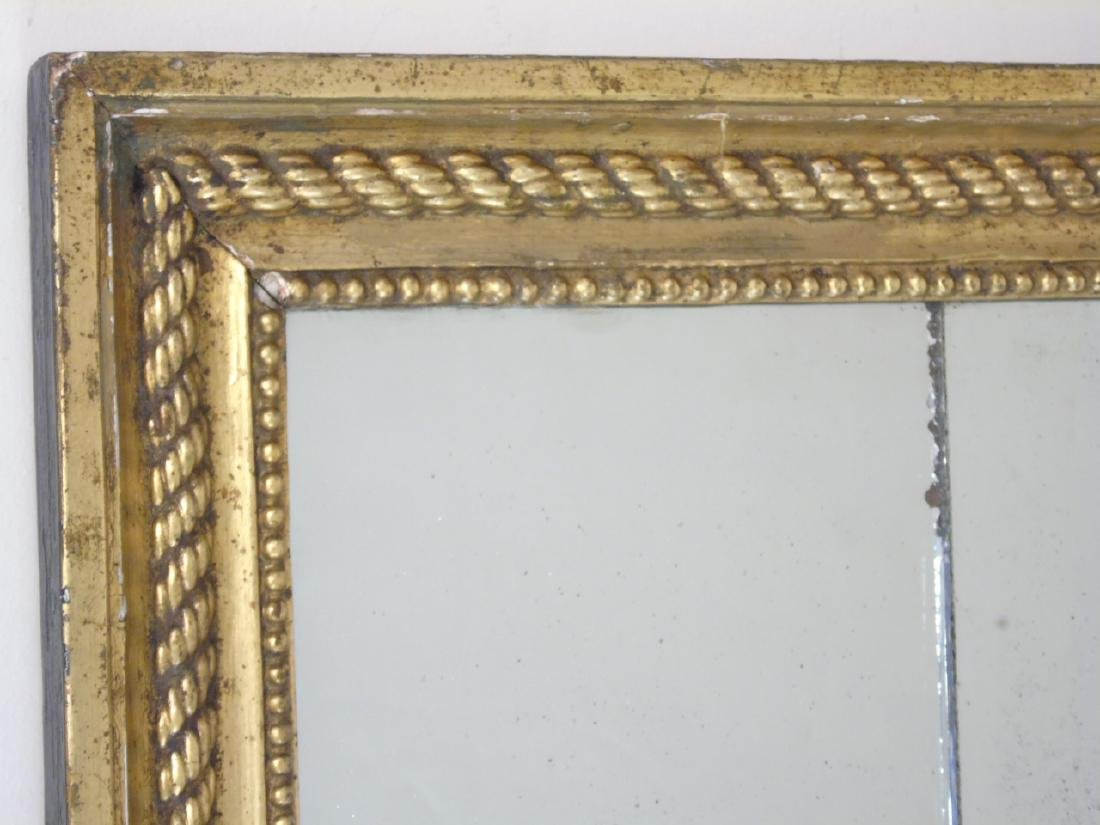Vintage Gilt Framed Mirror with Rope & Bead Detail - 3