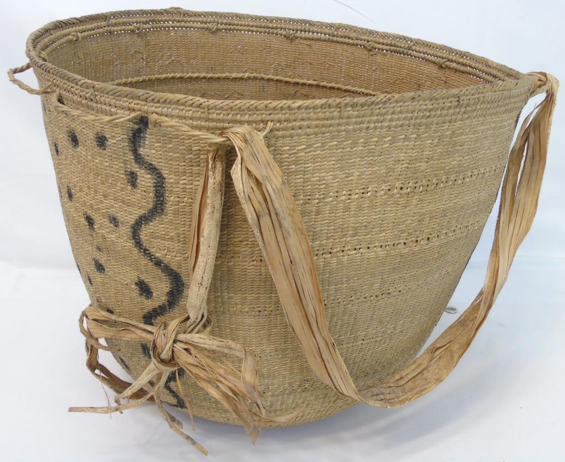 Extra Large Antique Native Woven Basket