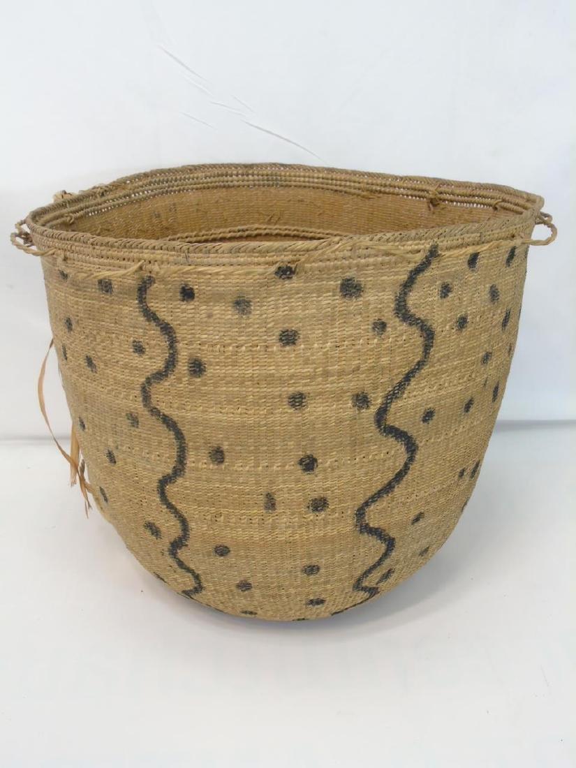Extra Large Antique Native Woven Basket - 2