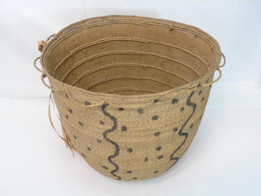 Extra Large Antique Native Woven Basket - 3