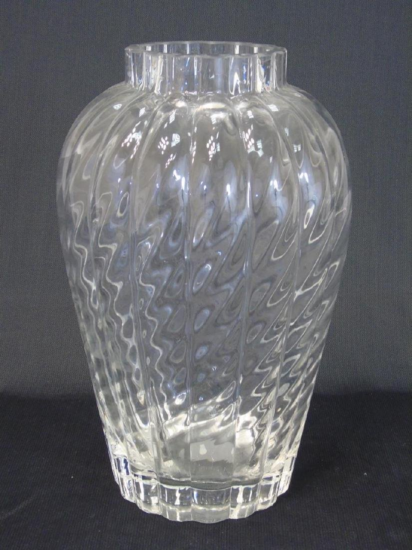 Tiffany & Co Rippled Art Glass Vase w Original Box