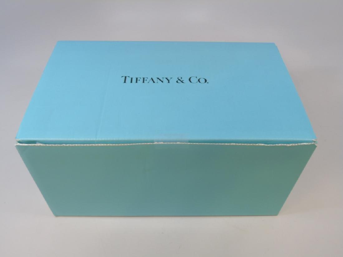 Tiffany & Co Rippled Art Glass Vase w Original Box - 2