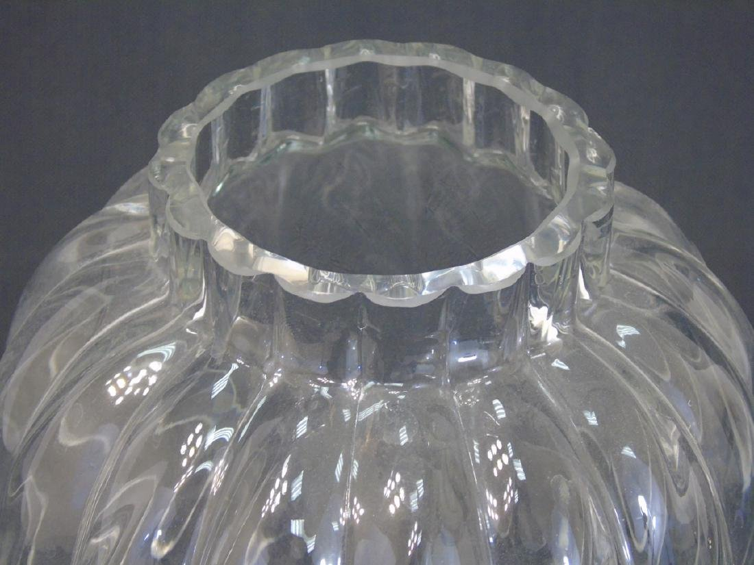Tiffany & Co Rippled Art Glass Vase w Original Box - 3
