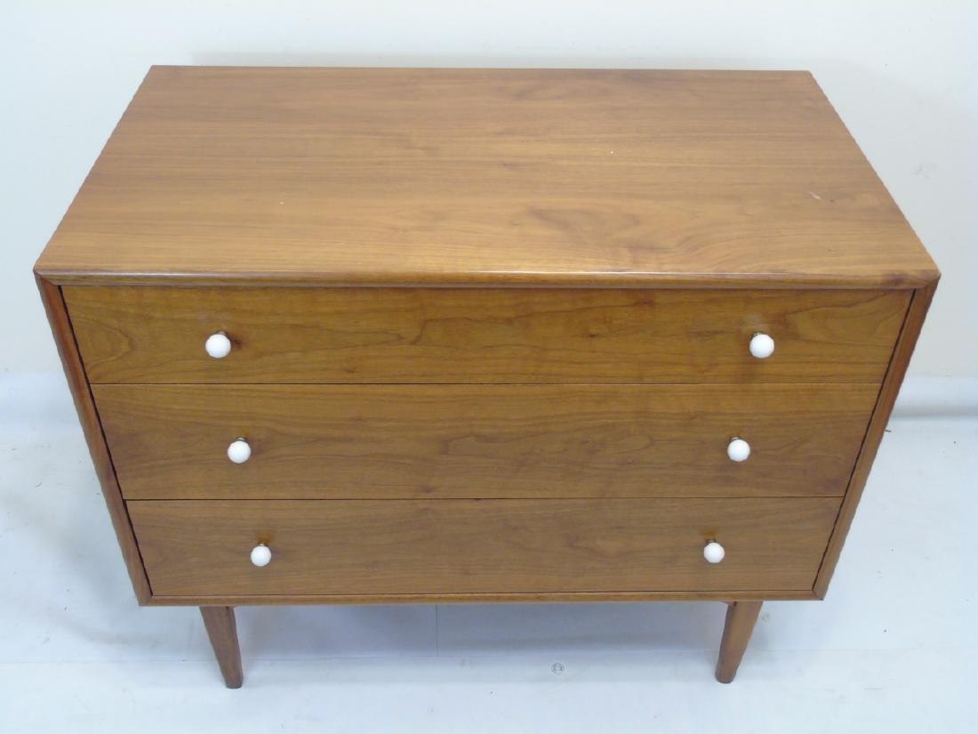 Mid Century Modern Mahogany 3 Drawer Dresser - 2