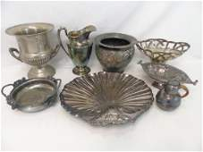 Large Lot of Antique  Vintage Silver Plate Items