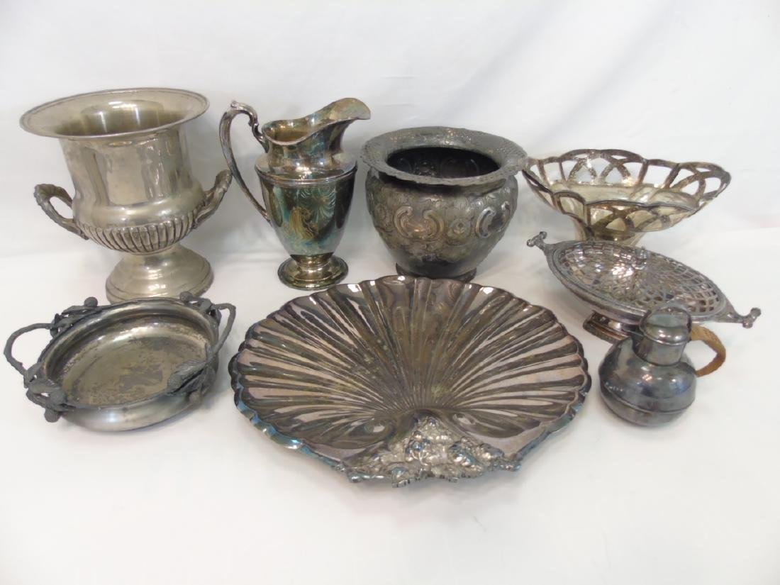 Large Lot of Antique & Vintage Silver Plate Items