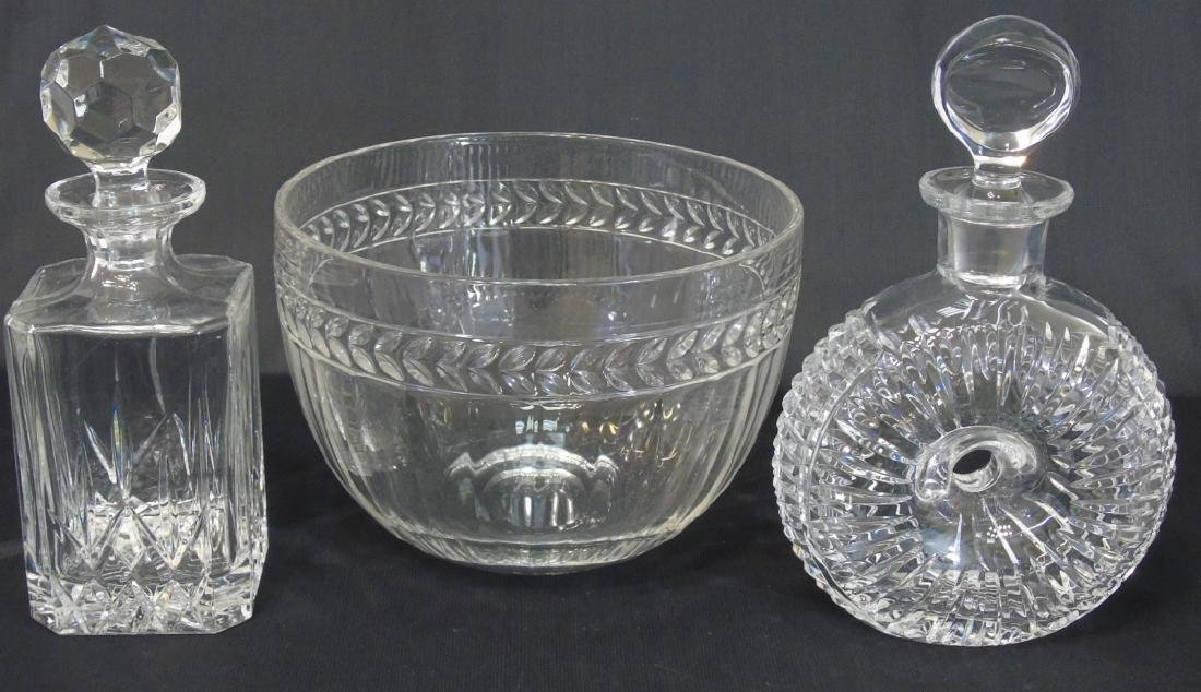 Group Villeroy & Bosch Crystal Bowl and Decanters