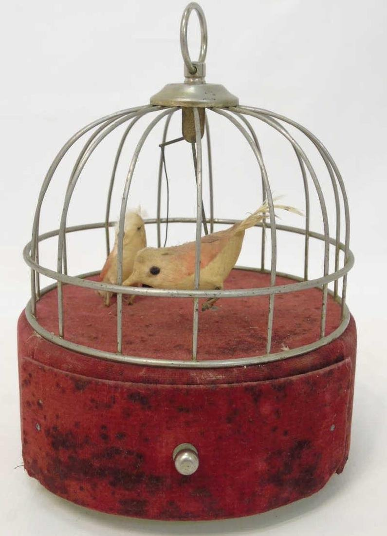 Antique French Style Singing Birds Automaton Cage