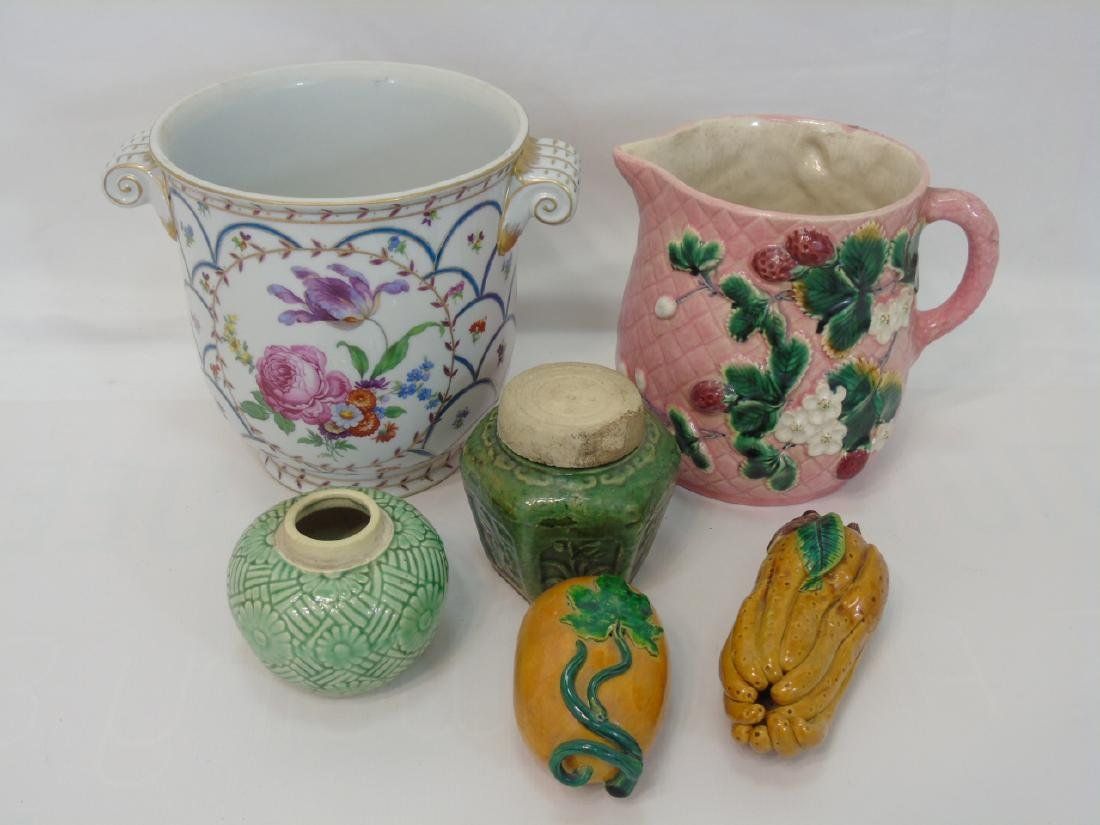 Large Group of Various Vintage Majolica Items - 2