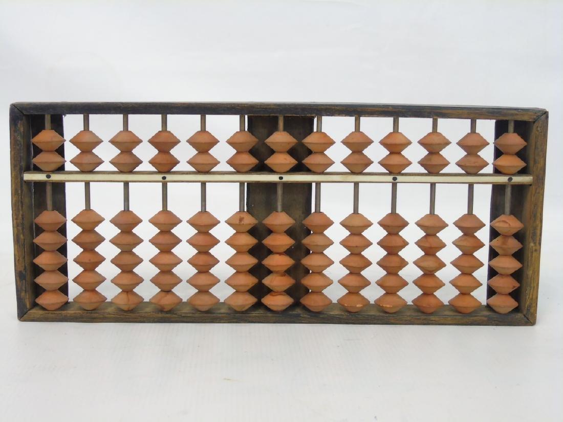 Five Antique / Vintage Carved Wood Abacuses - 2