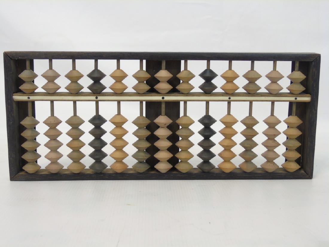 Five Antique / Vintage Carved Wood Abacuses - 3