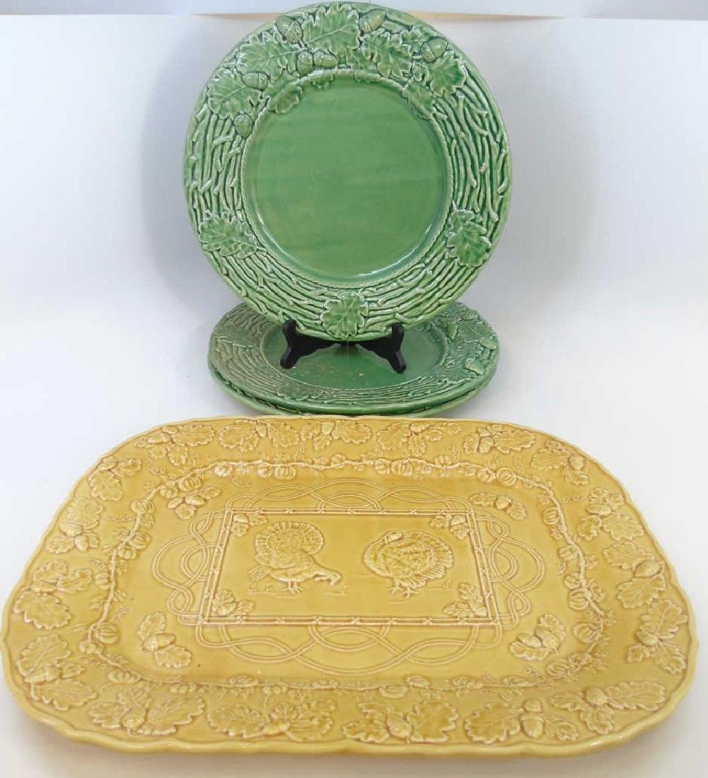 Group of Four Thanksgiving Motif Serving Platters