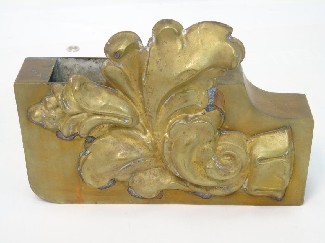French Neo Classical Wall Plaque & Brass Planter - 2