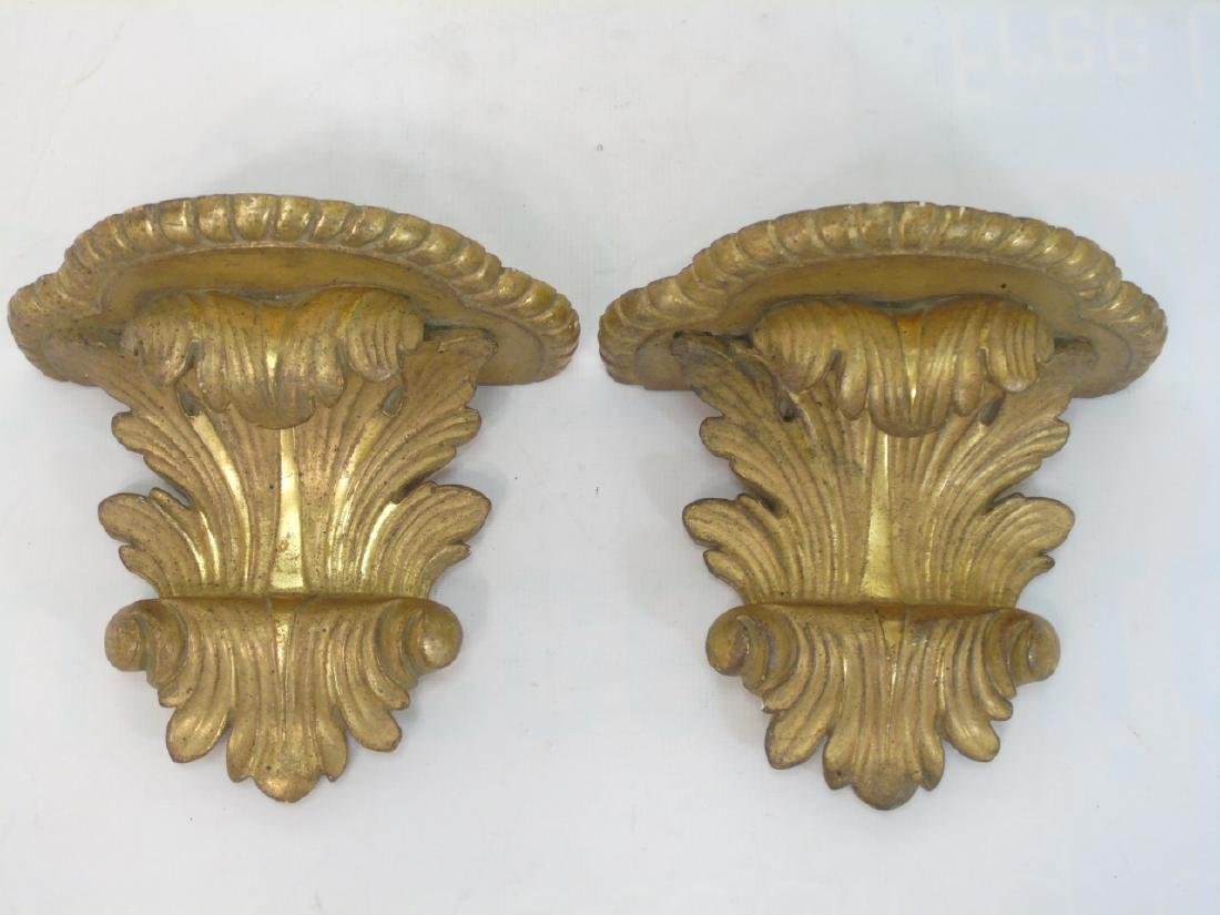 2 Pairs Neo Classical Style Wall Bracket Shelves - 3
