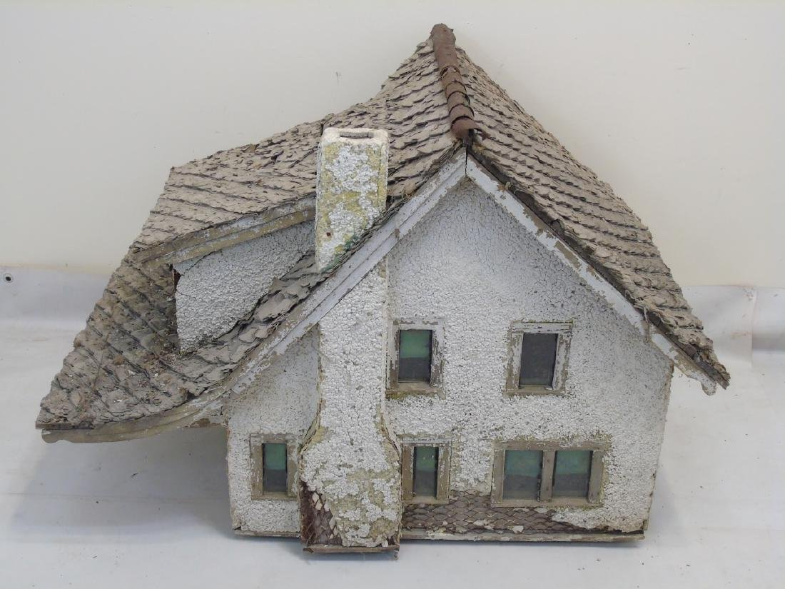Antique c 1900 Doll House Cottage Hand Made - 2
