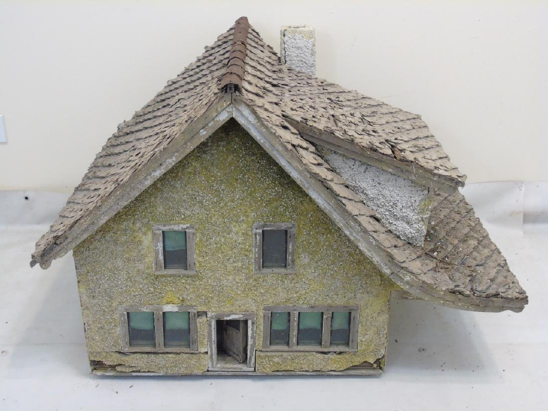 Antique c 1900 Doll House Cottage Hand Made - 4