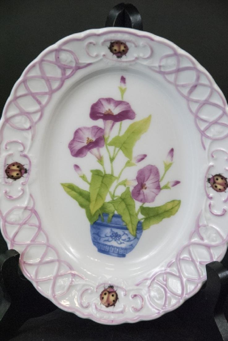 Three Lady Bug & Floral Motif Bowls by Paris Royal - 2