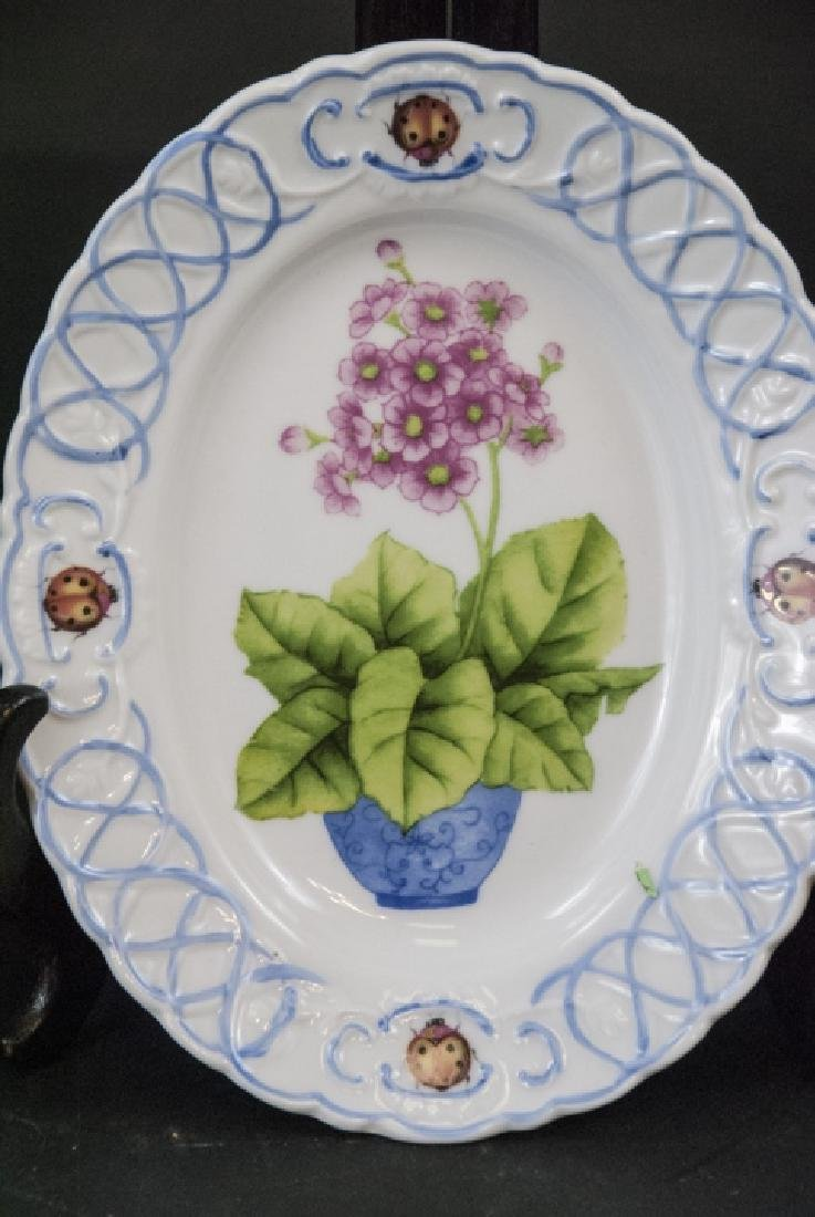 Three Lady Bug & Floral Motif Bowls by Paris Royal - 3