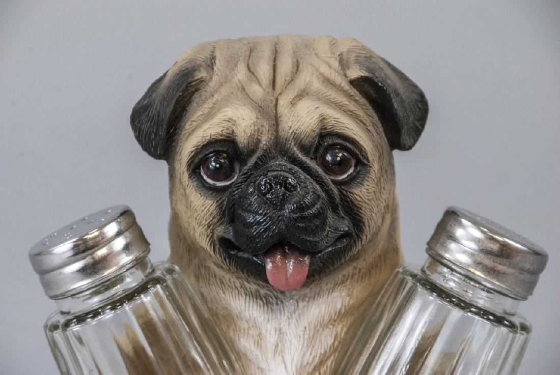 Figural Pug Dog Statue for Salt & Pepper Shakers - 2
