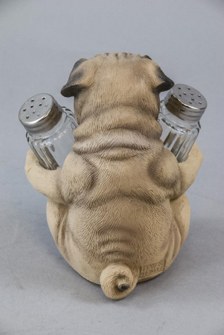 Figural Pug Dog Statue for Salt & Pepper Shakers - 4