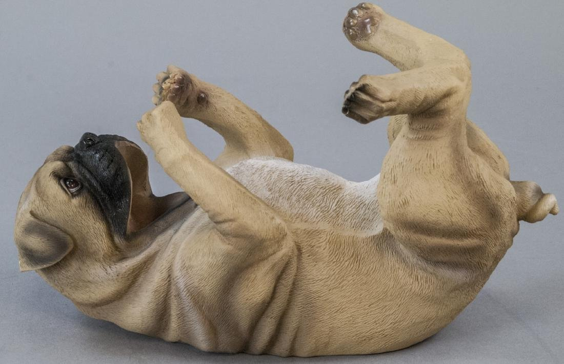 Figural Pug Dog Statue Wine or Champagne Holder