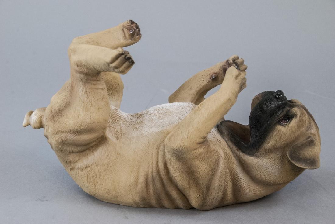 Figural Pug Dog Statue Wine or Champagne Holder - 2