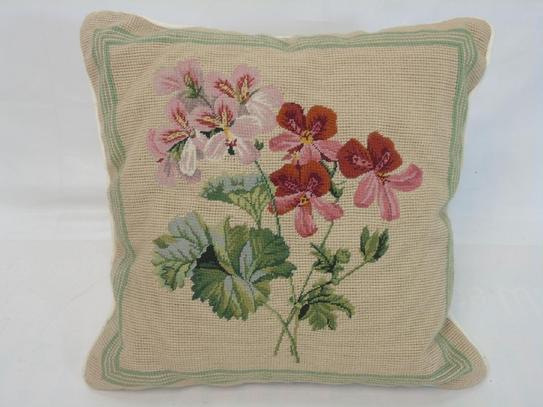 Pair of Needlepoint Pillows & Pair of Covers - 3