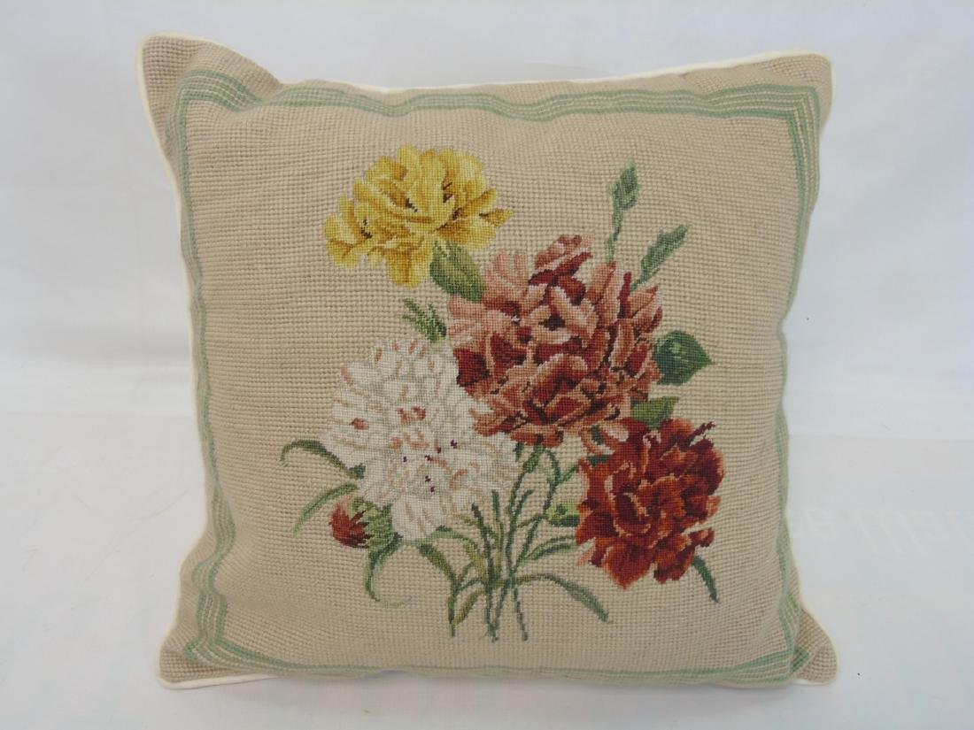 Pair of Needlepoint Pillows & Pair of Covers - 4